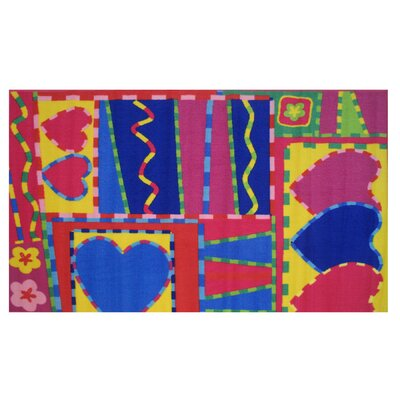 Fun Time Hearts and Crafts Area Rug Rug Size: 33 x 410