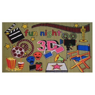 Fun Time Movie Time Area Rug Rug Size: 33 x 410