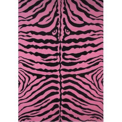 Fun Time Zebra Skin-Pink Area Rug