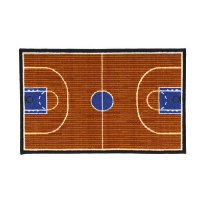 Fun Time Basketball Court Sports Area Rug Rug Size: 17 x 25