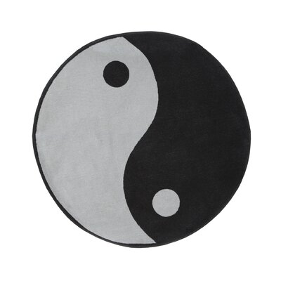 Fun Shape High Pile Ying Yang Area Rug Rug Size: Round 43