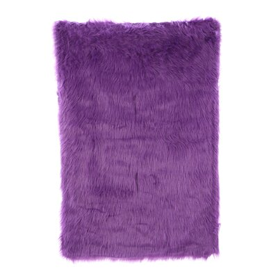 Flokati Purple Area Rug Rug Size: Rectangle 2'7