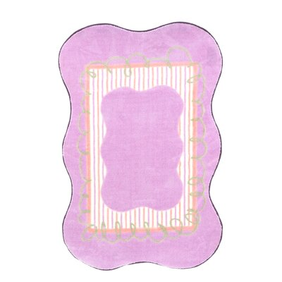 Supreme Scalloped Girls Purple Area Rug Rug Size: Scalloped 33 x 410