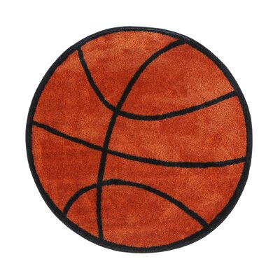 Fun Shape Basketball Area Rug Rug Size: Round 33