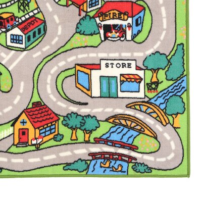Fun Time Country Road Indoor/Outdoor Area Rug Rug Size: 17 x 25