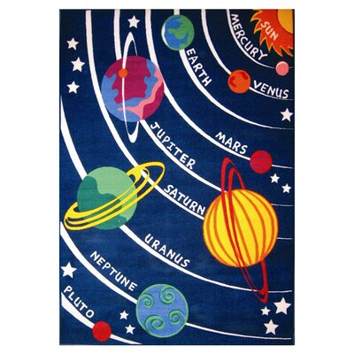 Fun Time Solar System Classroom Area Rug Rug Size: 53 x 76