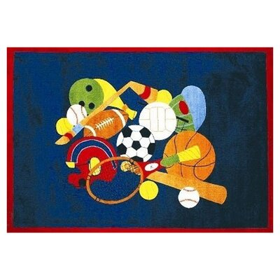 Fun Time American Sports Area Rug Rug Size: 17 x 25