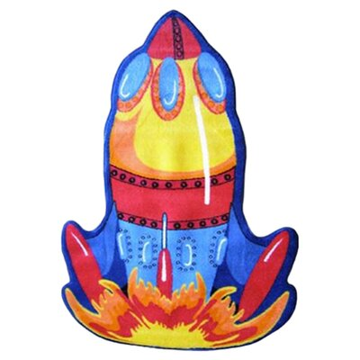 Fun Shape High Pile Rocket Area Rug Rug Size: Rocket 33 x 410