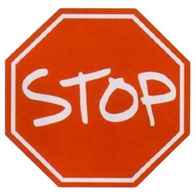 Fun Shape High Pile Stop Sign Area Rug Rug Size: Hexagon 33