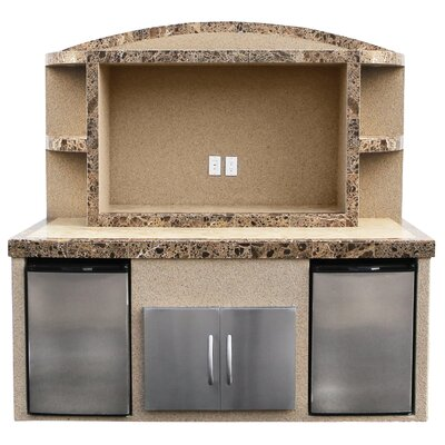 Tia Outdoor Entertainment Center Serving Bar