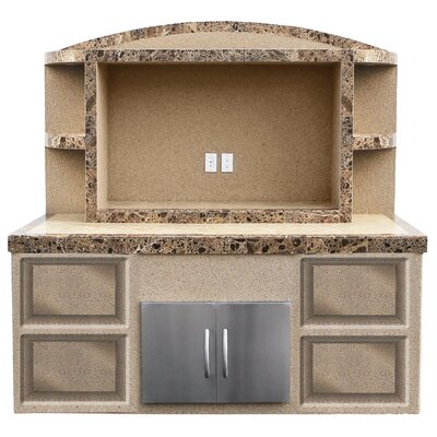 Cristina Outdoor Entertainment Center Serving Bar