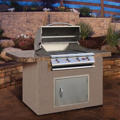 "CalFlame 72"" BBQ Island 4 Burner Gas Grill with Bar Depth Top at Sears.com"