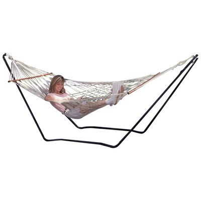 Hubert High Island Rope Cotton Hammock with Stand