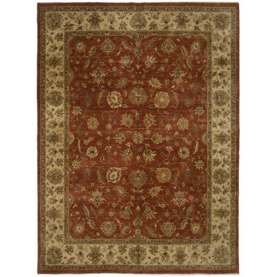 Ambrose Hand-Knotted Rust Area Rug