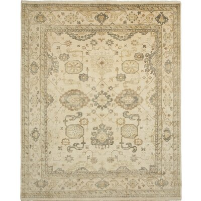 Oushak Hand-Knotted Beige Area Rug Rug Size: 4 x 6