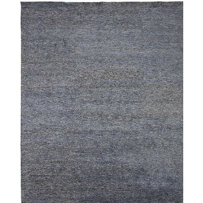 Horizon Hand-Knotted Blue/Gray Area Rug Rug Size: 4 x 6