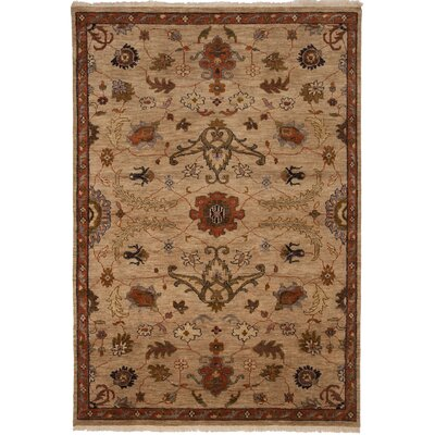 Tucson Hand-Knotted Beige Area Rug Rug Size: 10 x 14