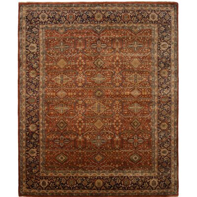 Cambridge Hand-Knotted Red Area Rug Rug Size: 10 x 14