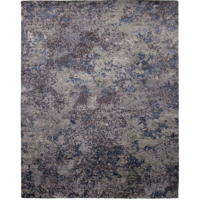La Vista Hand-Knotted Gray/Blue Area Rug Rug Size: 10 x 14