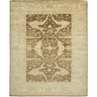 Oushak Hand-Knotted Beige Area Rug Rug Size: 2 x 3
