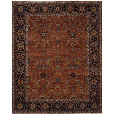 Cambridge Hand-Knotted Red Area Rug Rug Size: 8 x 10