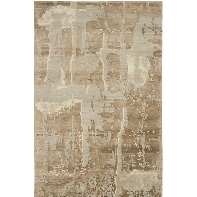 Broadway Hand-Knotted Light Blue Area Rug Rug Size: 4 x 6