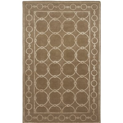 Broadway Hand-Knotted Brown Area Rug Rug Size: 9 x 12