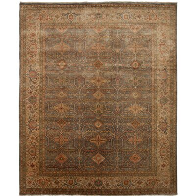 Cambridge Hand-Knotted Beige Area Rug Rug Size: 9 x 12