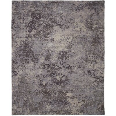 La Vista Hand-Knotted Gray Area Rug Rug Size: 9 x 12