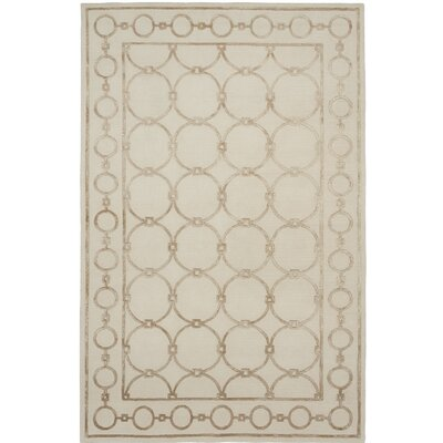 Broadway Hand-Knotted Beige Area Rug Rug Size: 9 x 12