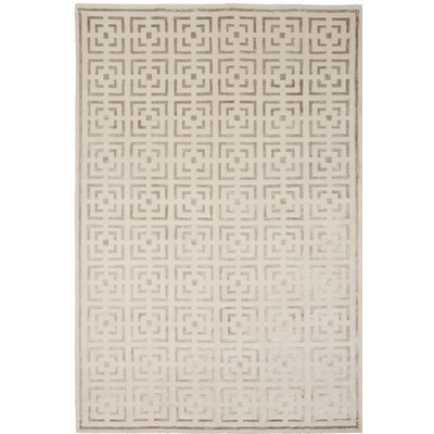Broadway Hand-Knotted Beige Area Rug Rug Size: 8 x 10