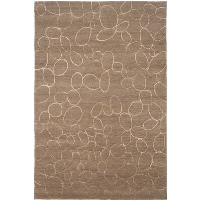 Broadway Hand-Knotted Brown Area Rug Rug Size: 4 x 6