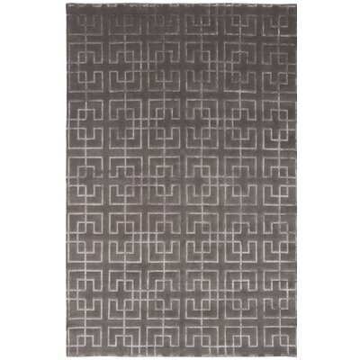 Broadway Hand-Knotted Gray Area Rug Rug Size: 9 x 12