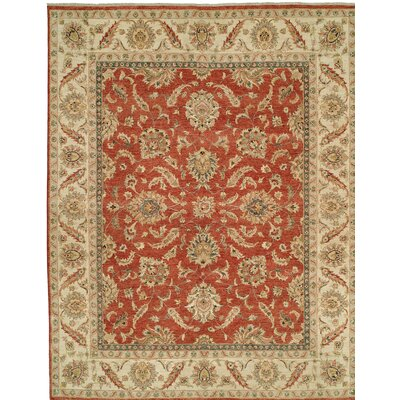 Royal Zeigler Hand-Knotted Beige/Orange Area Rug Rug Size: 10 x 14
