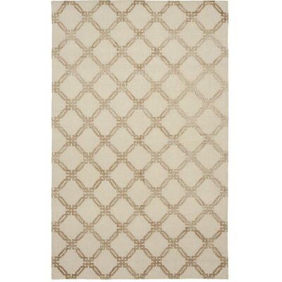 Broadway Hand-Knotted Beige Area Rug Rug Size: 6 x 9