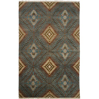 Tucson Hand-Knotted Blue Area Rug Rug Size: 2 x 3