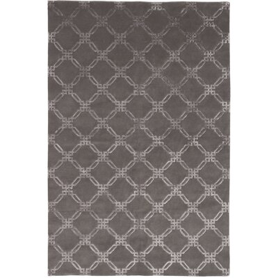 Broadway Hand-Knotted Gray Area Rug Rug Size: 6 x 9