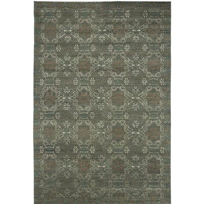 Broadway Hand-Knotted Green Area Rug Rug Size: 4 x 6