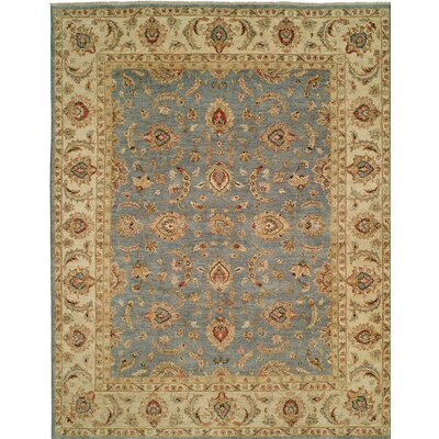 Royal Zeigler Hand-Knotted Beige/Gray Area Rug Rug Size: Runner 26 x 12