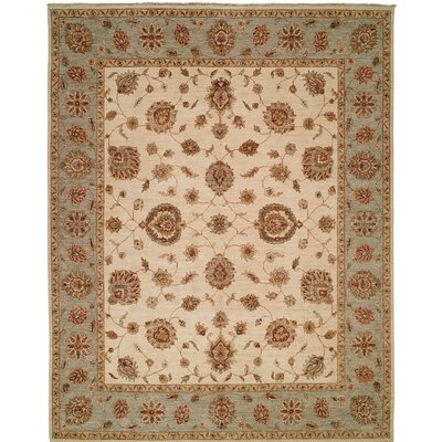 Royal Zeigler Hand-Knotted Beige/Gray Area Rug Rug Size: Runner 26 x 6