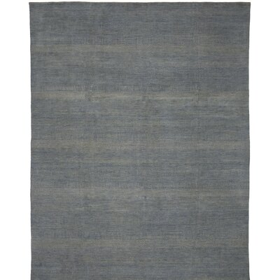 Illusions Hand-Knotted Blue Area Rug Rug Size: Runner 26 x 12