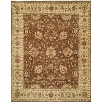 Royal Zeigler Hand-Knotted Brown/Beige Area Rug Rug Size: 9 x 12