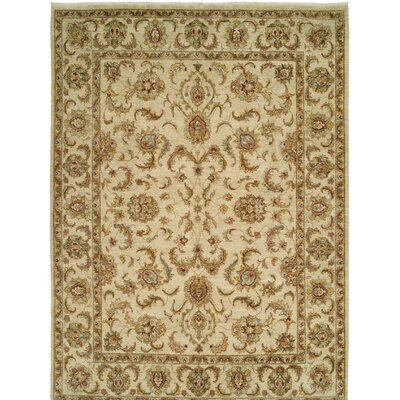 Royal Zeigler Hand-Knotted Beige Area Rug Rug Size: 6 x 9
