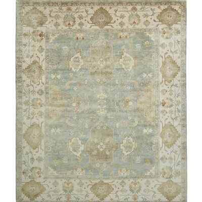 Ottoman Hand-Knotted Green/Blue Area Rug Rug Size: 8 x 10