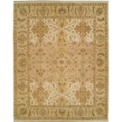 Royal Zeigler Hand-Knotted Beige Area Rug Rug Size: Runner 26 x 12