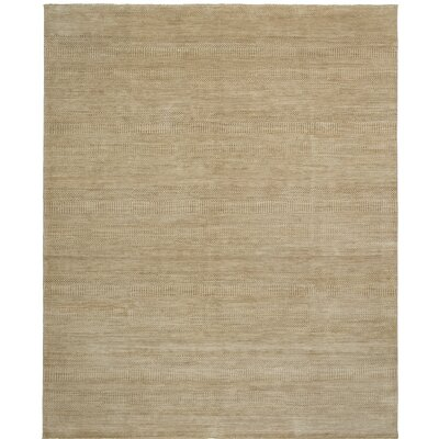 Illusions Hand-Knotted Beige Area Rug Rug Size: 4' x 6'
