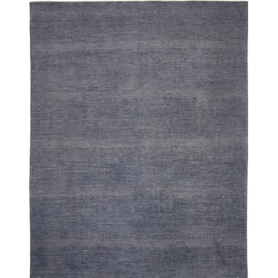 Illusions Hand-Knotted Blue Area Rug Rug Size: Runner 26 x 8
