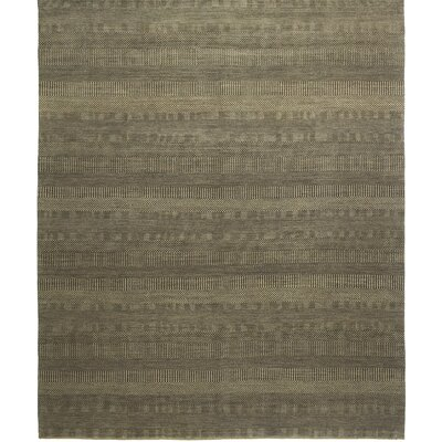 Illusions Hand-Knotted Gray/Beige Area Rug Rug Size: 8' x 10'