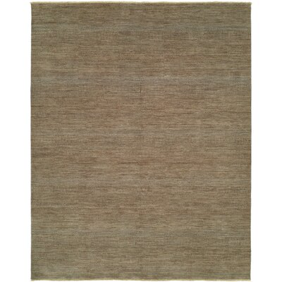 Illusions Light Blue/Light Brown Area Rug Rug Size: 9 x 12