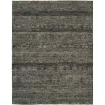 Illusions Grey/Charcoal Area Rug Rug Size: 6 x 9